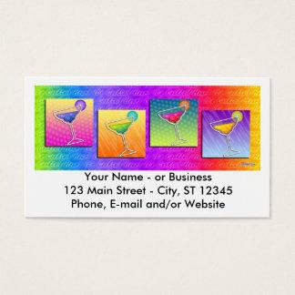 Tarjeta de visita - Margaritas del arte pop
