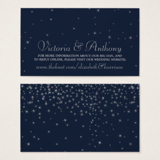 Tarjeta De Visita Marina de guerra elegante y el casarse de plata de