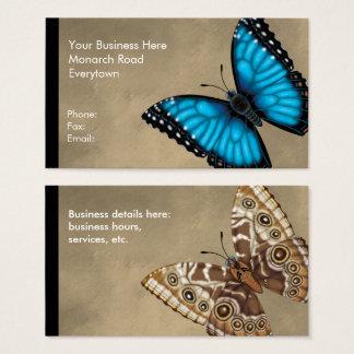 Tarjeta De Visita Mariposa azul de Morpho dorsal y ventral