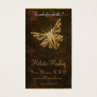 Tarjeta De Visita Mariposa de oro (modelo 2) - cura holística