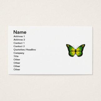Tarjeta De Visita Mariposa verde