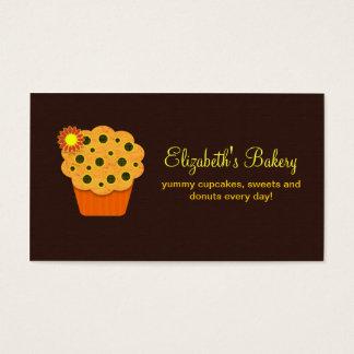 tarjeta de visita marrón anaranjada de la