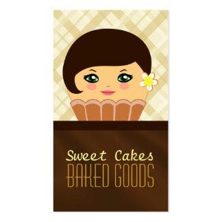 Tarjeta de visita marrón de la panadería del tarjetas de visita