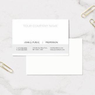 Tarjeta De Visita Mate blanco y gris profesional moderno simple