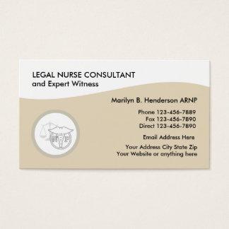 Tarjeta De Visita Médico legal de la enfermera