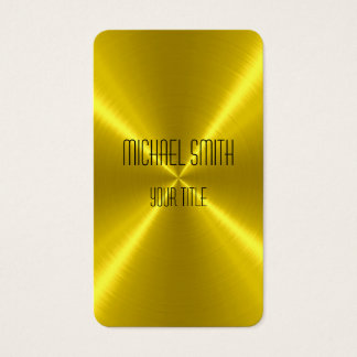 Tarjeta De Visita Metal del acero del oro