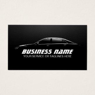 Tarjeta De Visita Metal negro de detalle auto profesional de la