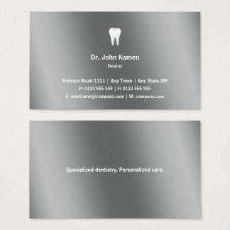 Tarjeta De Visita Metálico gráfico clásico del dentista el |