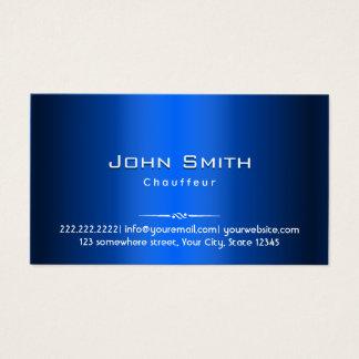 Tarjeta de visita metalizado del chófer del azul