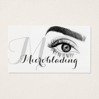 Tarjeta De Visita Microblading, cejas, tatuaje, maquillaje