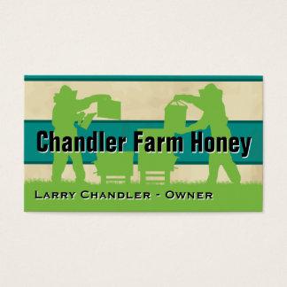 Tarjeta De Visita Miel de la granja de la familia personalizada