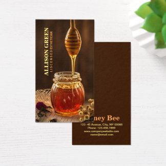 Tarjeta De Visita Miel facial natural de la abeja del Aromatherapy