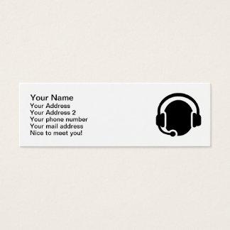 Tarjeta De Visita Mini Auriculares de las auriculares