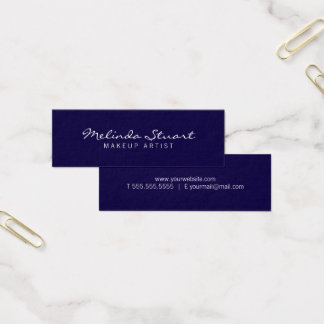 Tarjeta De Visita Mini Azules marinos y blanco modernos simples
