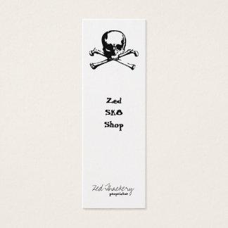 Tarjeta De Visita Mini Bandera pirata de la zeta