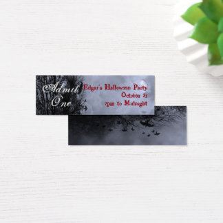 Tarjeta De Visita Mini Billete de grupo azul de encargo del cielo de