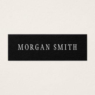 Tarjeta De Visita Mini Blanco y negro minimalista moderno