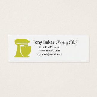 Tarjeta De Visita Mini Chef de repostería verde de la panadería del