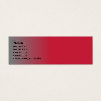 Tarjeta De Visita Mini Cromo rojo flaco