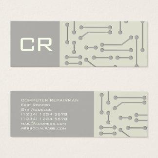 Tarjeta De Visita Mini Cubierta futurista de la tecnología cibernética
