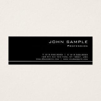 Tarjeta De Visita Mini Del blanco lustre negro moderno profesional de