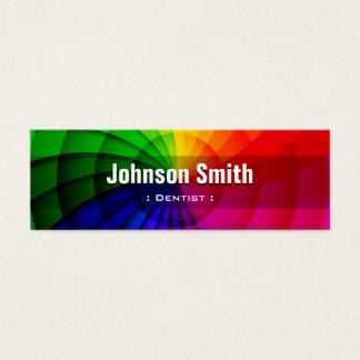 Tarjeta De Visita Mini Dentista - colores radiales del arco iris
