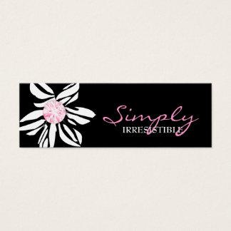 Tarjeta De Visita Mini Diamante salvaje del rosa de la flor de la cebra