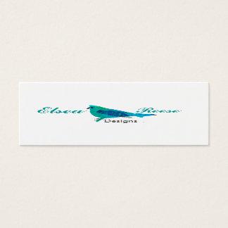 Tarjeta De Visita Mini Diseño azul lindo personalizado del ilustracion