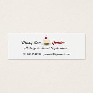 Tarjeta De Visita Mini Dulces bonitos del panadero de las magdalenas de