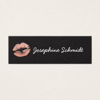 Tarjeta De Visita Mini El beso de moda simple del Cosmetologist compone