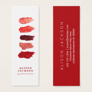 Tarjeta De Visita Mini El lápiz labial colorea al artista de maquillaje