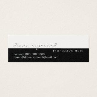 Tarjeta De Visita Mini elegante moderno, profesional medio blanco