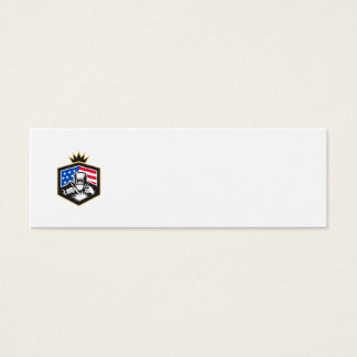 Tarjeta De Visita Mini Escudo de la bandera de los E.E.U.U. de la