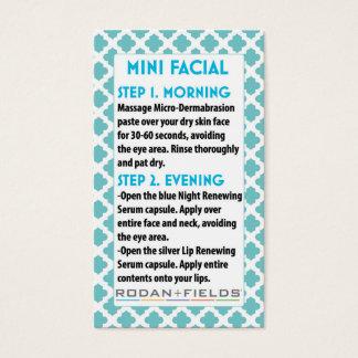 Tarjeta De Visita Mini Facial R +F card- Rodan + Fields facial