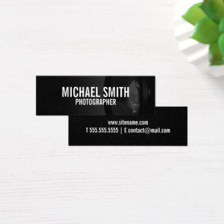 Tarjeta De Visita Mini Fotografía blanco y negro profesional