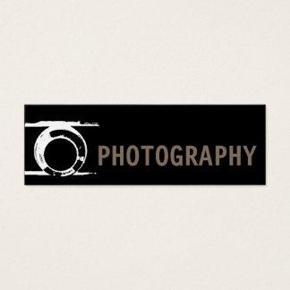 Tarjeta De Visita Mini Fotógrafo negro delgado perfecto