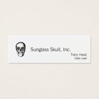 Tarjeta De Visita Mini Gafas de sol desapasibles del vintage del cráneo