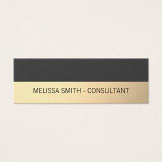 Tarjeta De Visita Mini Gris profesional simple del lux del oro