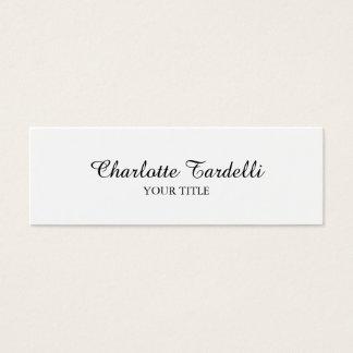 Tarjeta De Visita Mini Handwrite clásico blanco profesional delgado llano