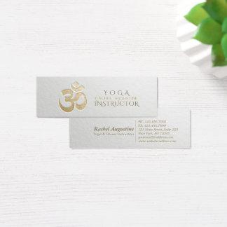 Tarjeta De Visita Mini Instructor grabado en relieve de la yoga del