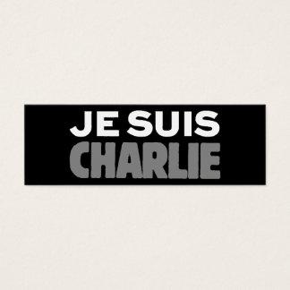 Tarjeta De Visita Mini Je Suis Charlie - soy negro de Charlie