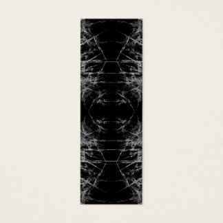 Tarjeta De Visita Mini La manera adentro. Arte del fractal. Monocromático