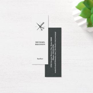 Tarjeta De Visita Mini La vertical minimalista del peluquero Scissor el