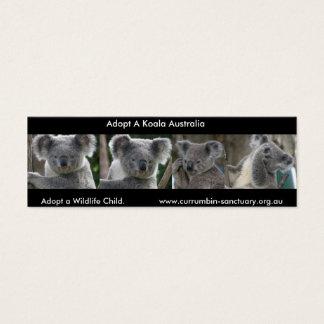 Tarjeta De Visita Mini Las koalas de la señal adoptan a un niño Australia