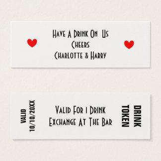 Tarjeta De Visita Mini Libere el símbolo Personallized de las bebidas