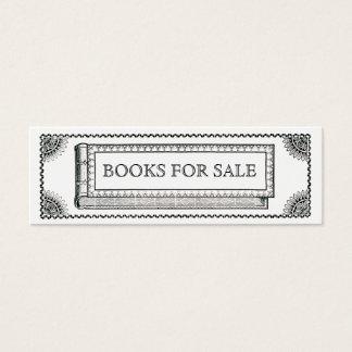 Tarjeta De Visita Mini Libro adornado del vintage, libros antiguos para