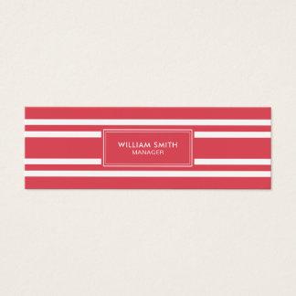 Tarjeta De Visita Mini Líneas rojas suaves elegantes profesionales