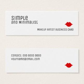 Tarjeta De Visita Mini maquillaje elegante simple y minimalista