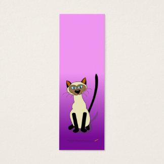 Tarjeta De Visita Mini Mini señales del gato siamés (púrpuras)
