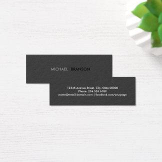 Tarjeta De Visita Mini Minimalist negro simple moderno profesional